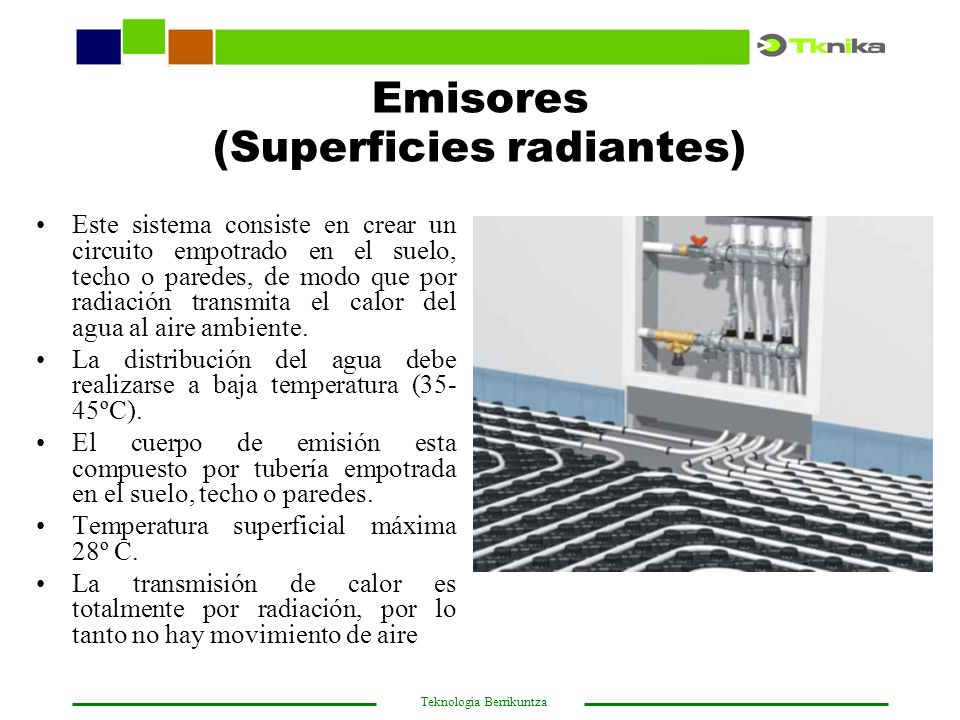 Emisores (Superficies radiantes)