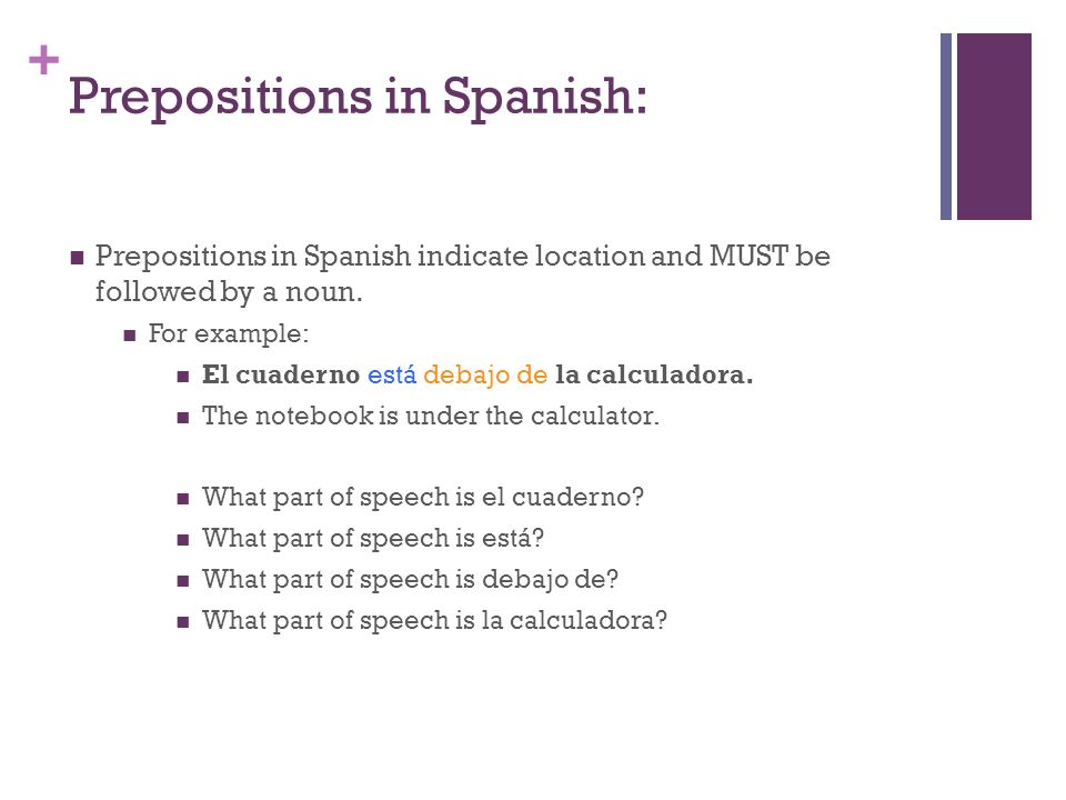 Prepositions in Spanish: