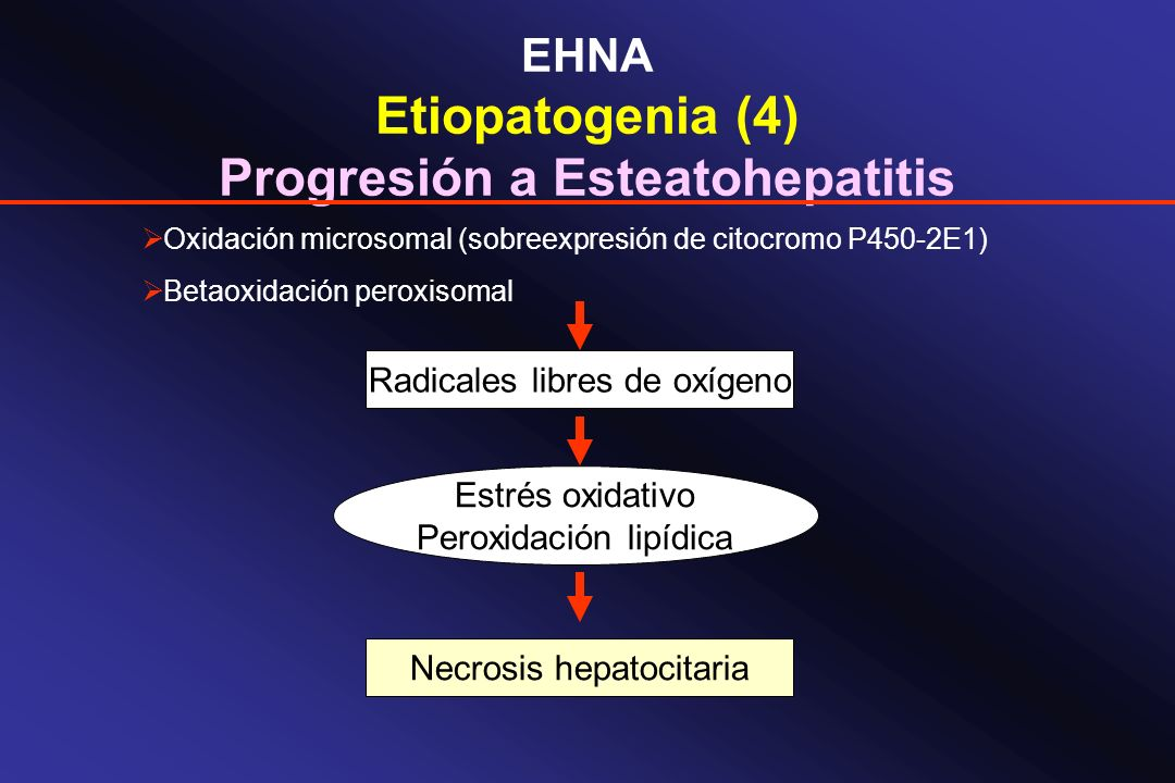 Progresión a Esteatohepatitis