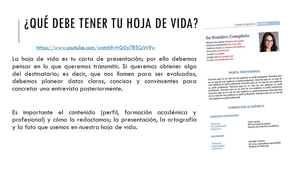 Como Preparar Un Buen Curriculum Vitae Ppt Video Online Descargar