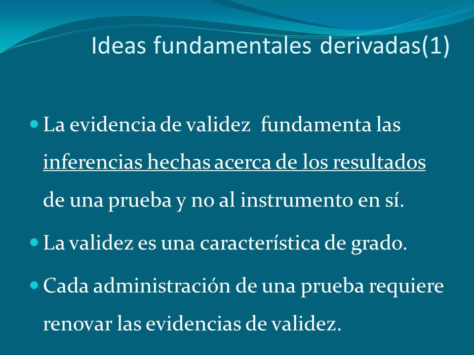 Ideas fundamentales derivadas(1)