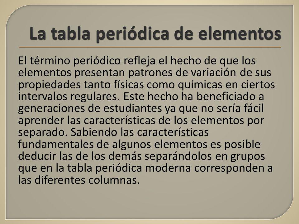 Universidad autnoma del estado de mxico facultad de qumica ppt la tabla peridica de elementos urtaz Image collections