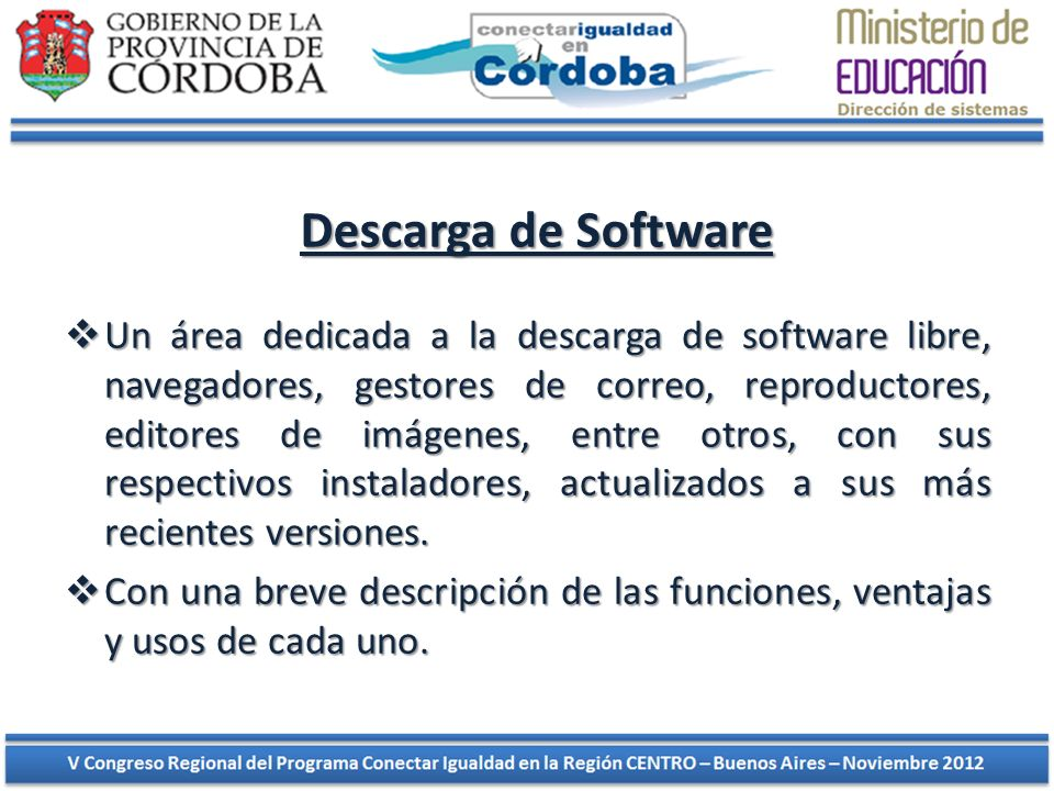 Descarga de Software