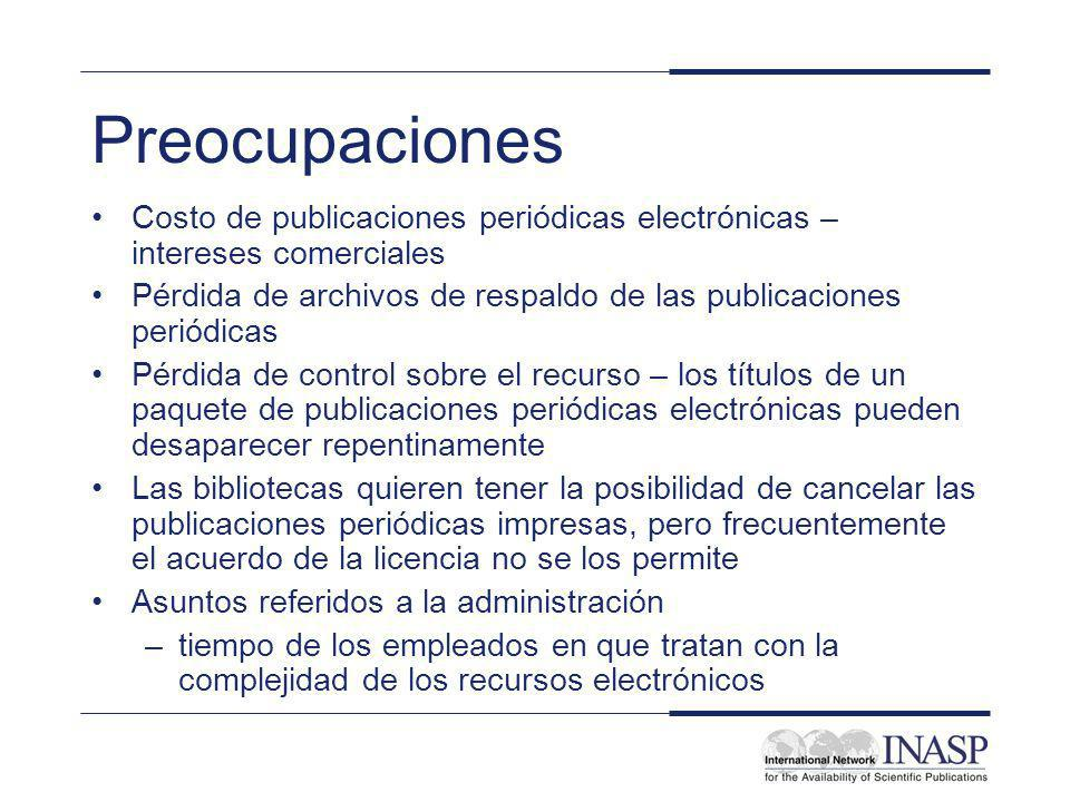 INASP Cascading Workshop: Electronic Journals and Electronic Resources Library Management: Supply Models