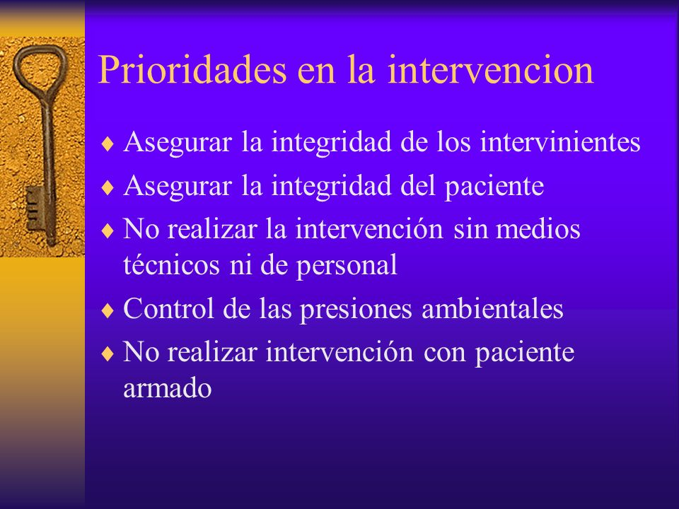 Prioridades en la intervencion