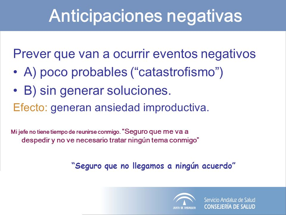 Anticipaciones negativas