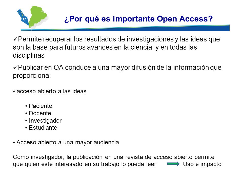 ¿Por qué es importante Open Access