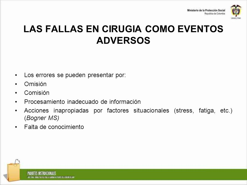 LAS FALLAS EN CIRUGIA COMO EVENTOS ADVERSOS