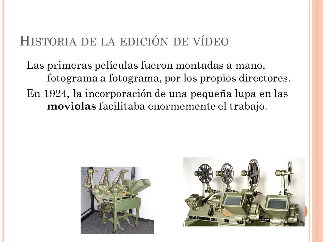 La edición de vídeo. - ppt descargar