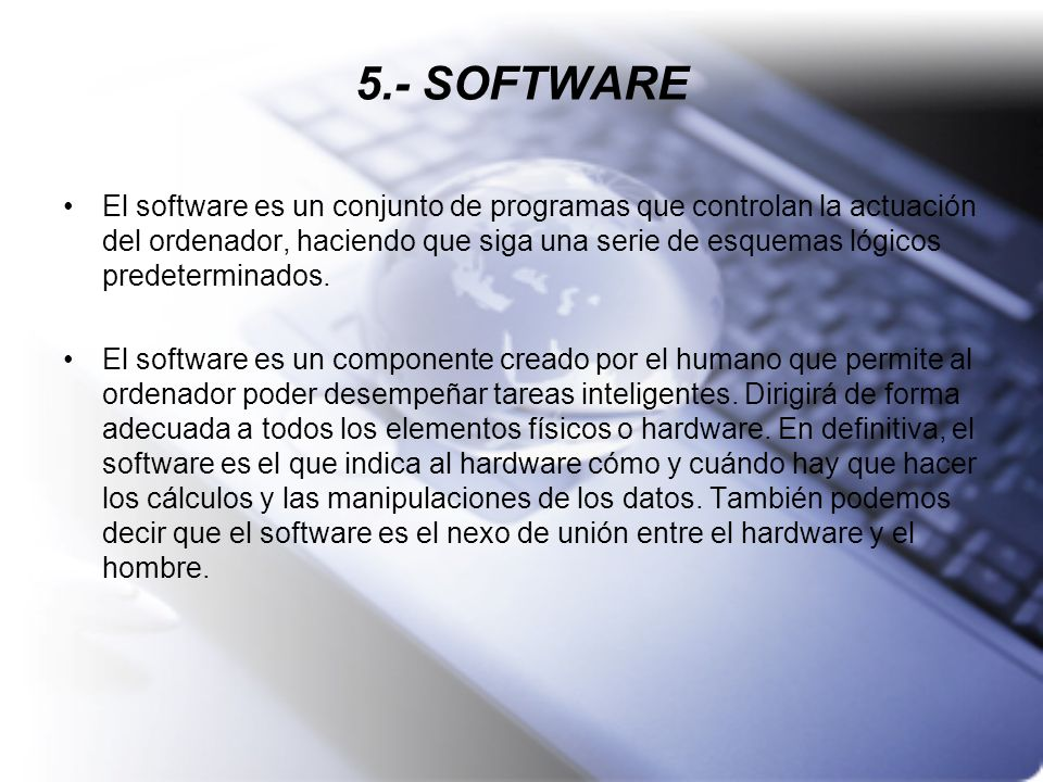 5.- SOFTWARE