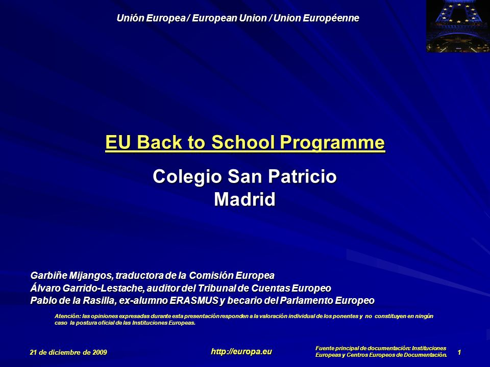 EU Back to School Programme