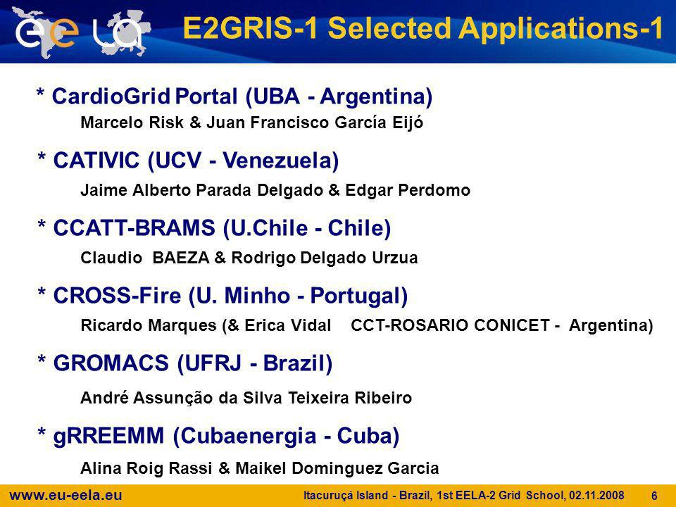 E2GRIS-1 Selected Applications-1