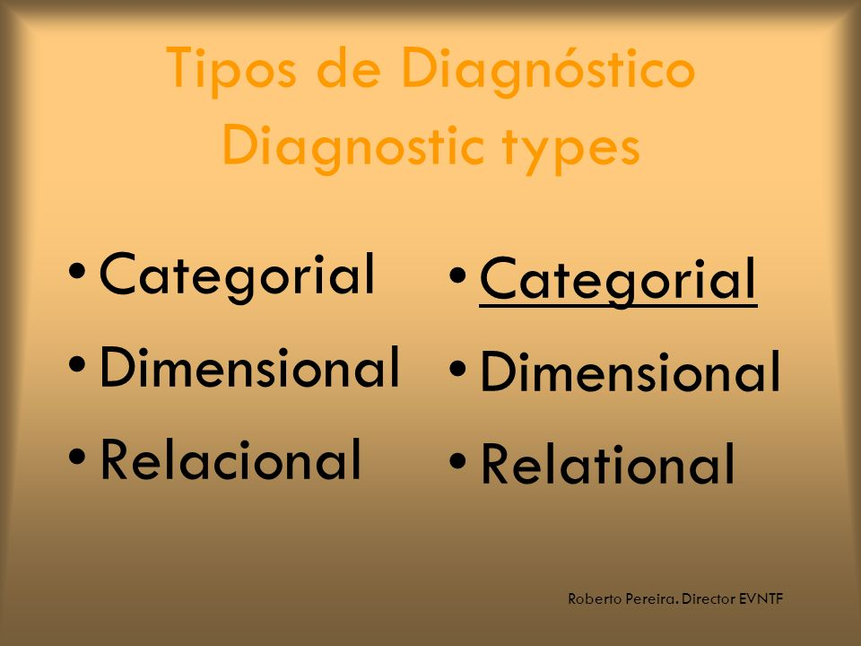 Tipos de Diagnóstico Diagnostic types