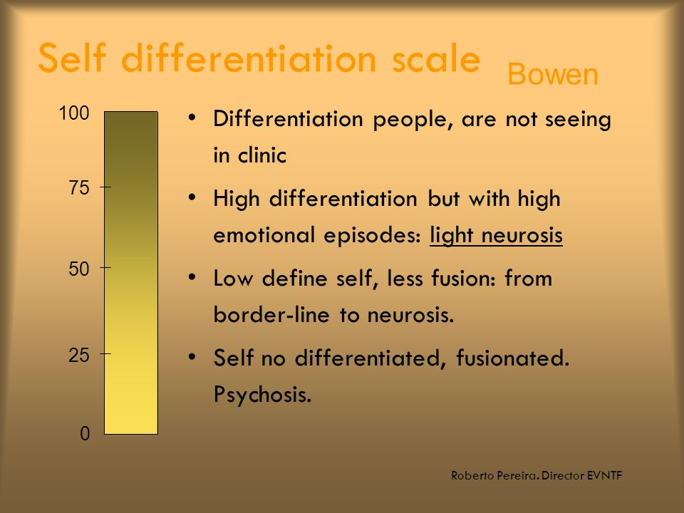 Self differentiation scale