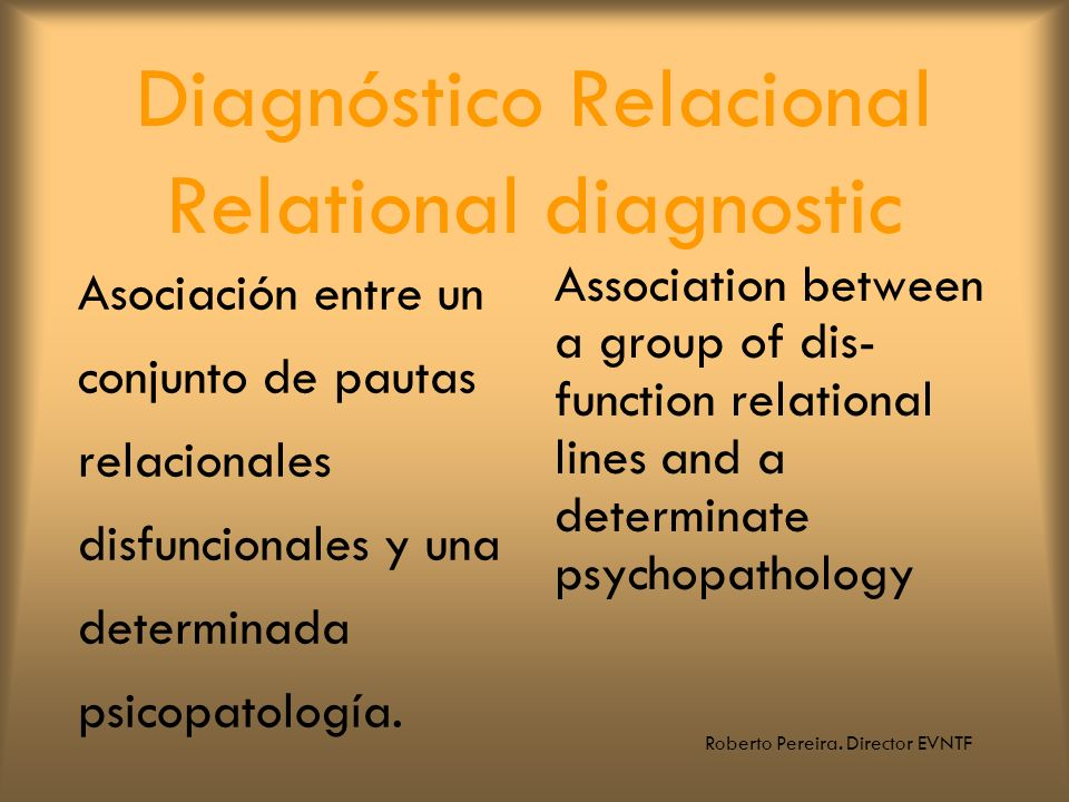 Diagnóstico Relacional Relational diagnostic