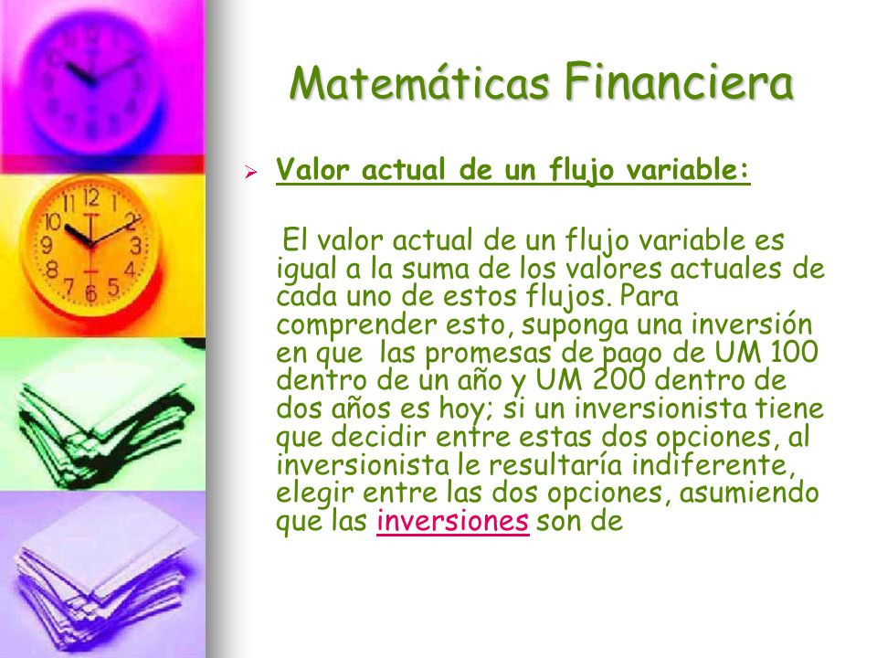 Matemáticas Financiera