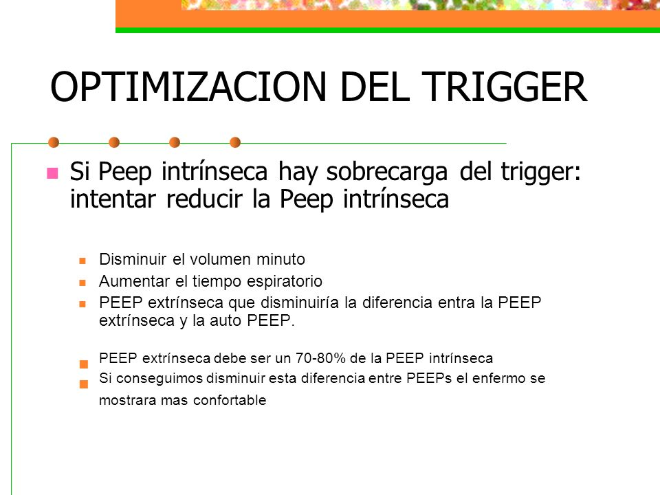 OPTIMIZACION DEL TRIGGER