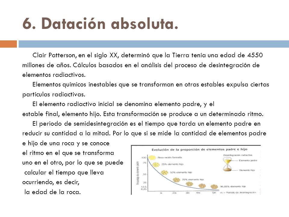 6. Datación absoluta.