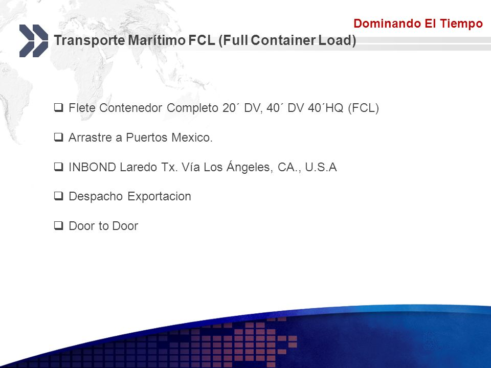 Transporte Marítimo FCL (Full Container Load)