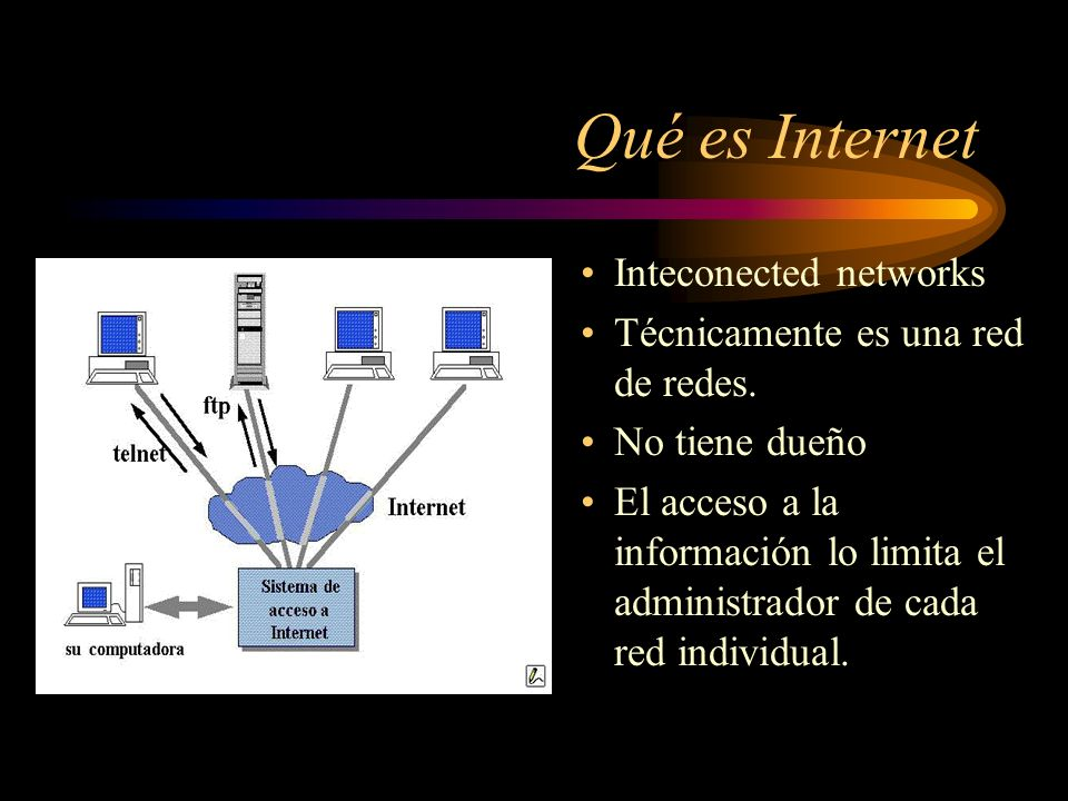 Qué es Internet Inteconected networks