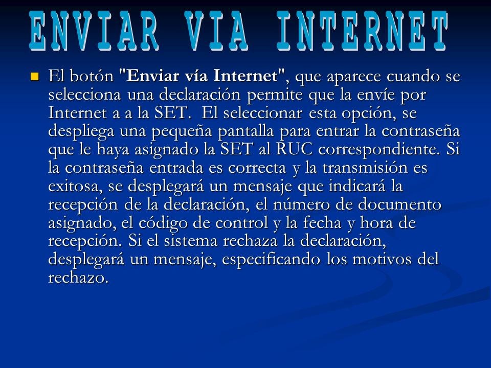 ENVIAR VIA INTERNET