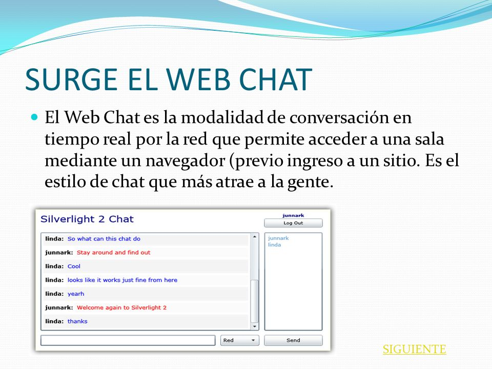 SURGE EL WEB CHAT