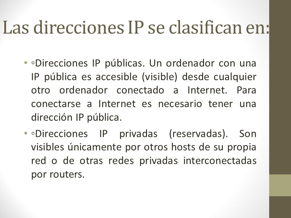 DIRECCIONAMIENTO IP Un routero encaminador no es más que un