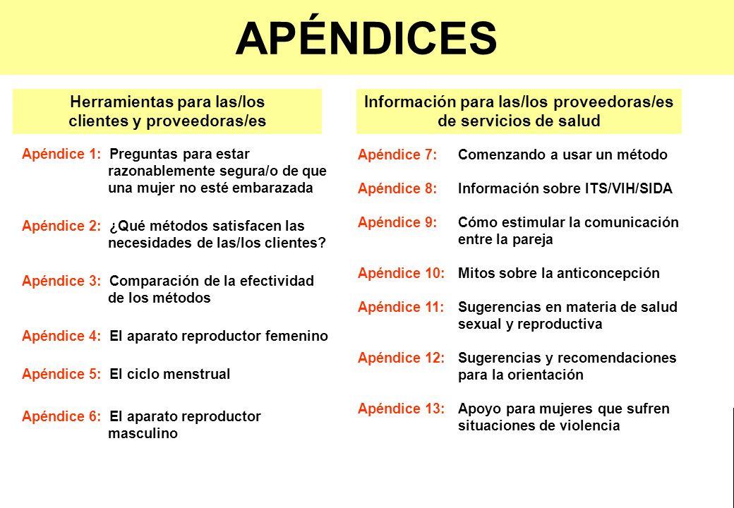APÉNDICES Herramientas para las/los clientes y proveedoras/es - ppt ...