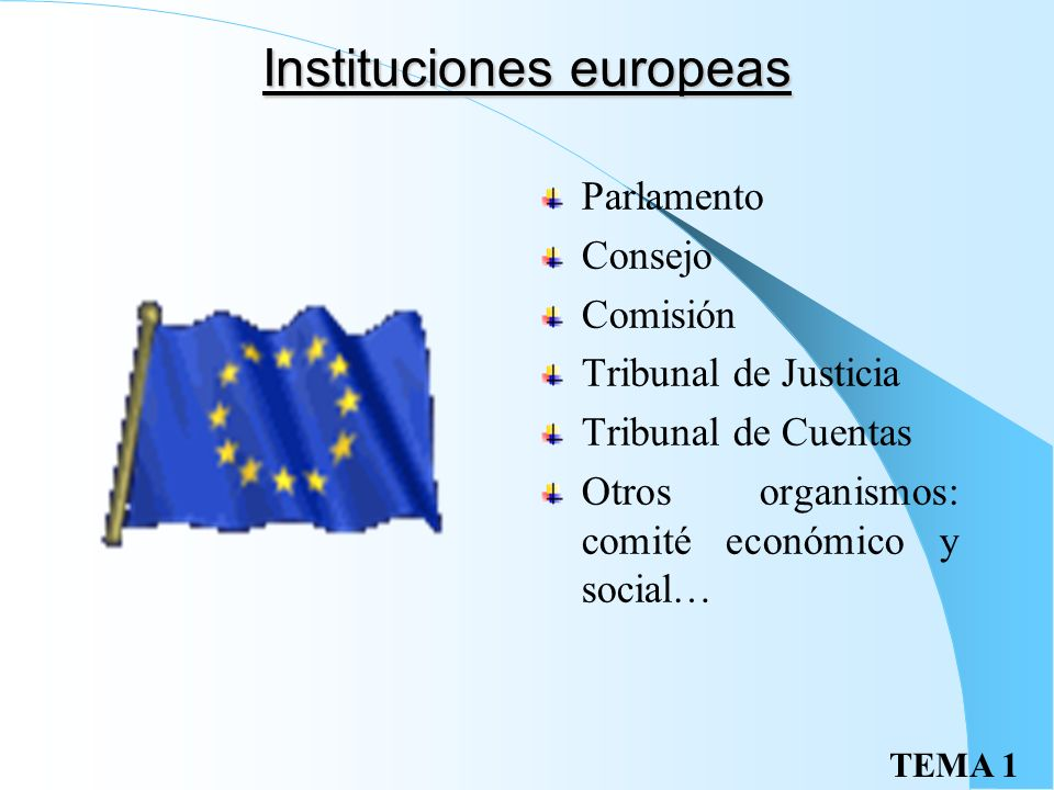 Instituciones europeas
