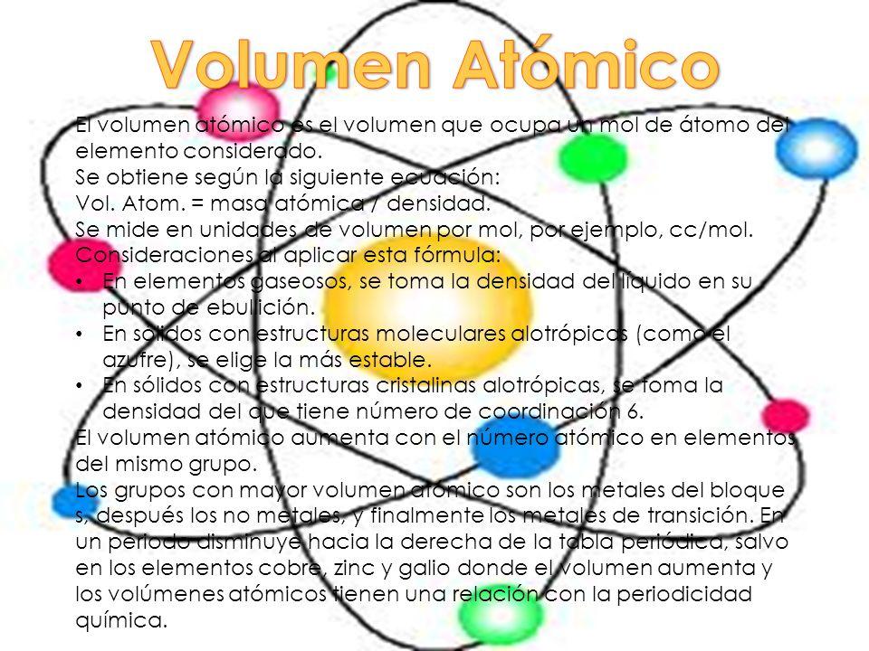 Propiedades periodicas ppt descargar 7 volumen atmico urtaz Image collections