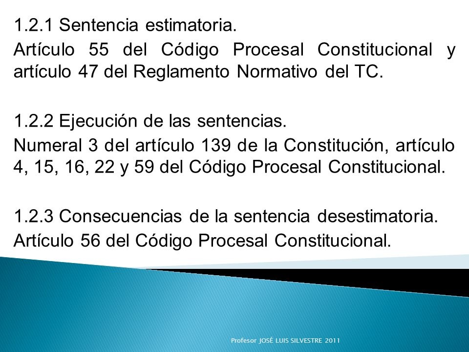 1.2.1 Sentencia estimatoria.