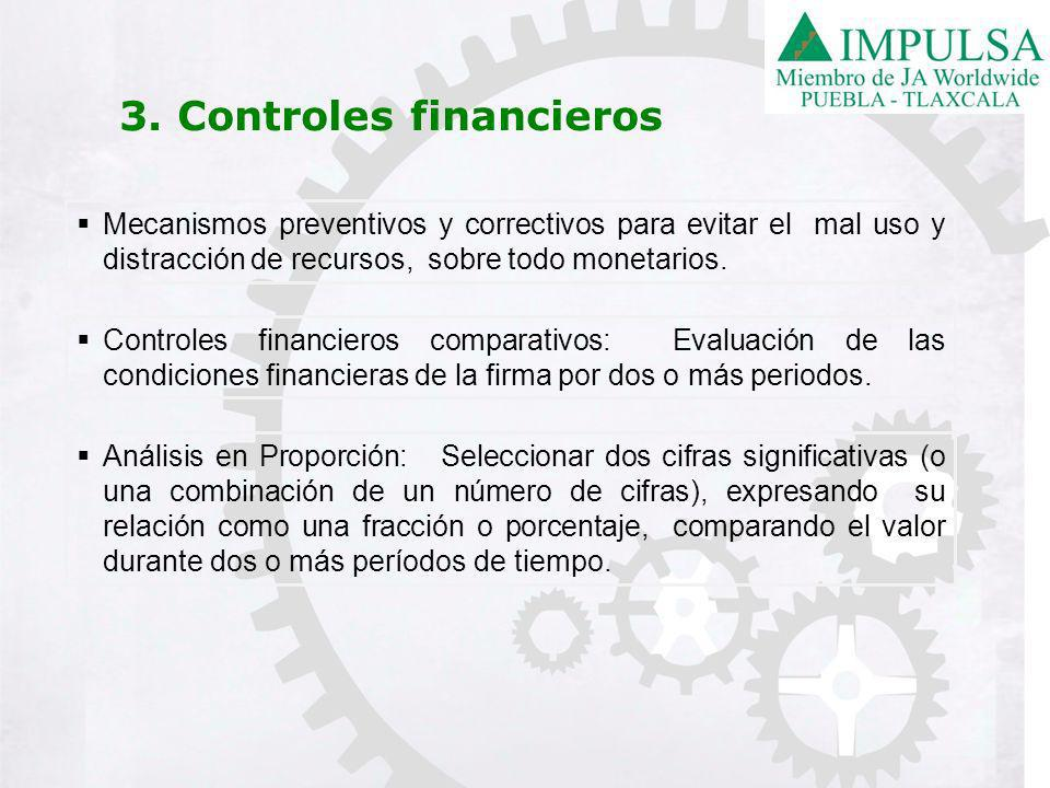 3. Controles financieros
