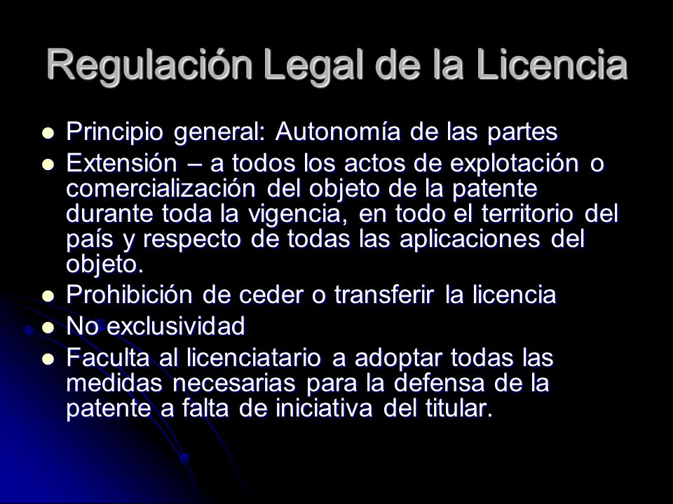 Regulación Legal de la Licencia