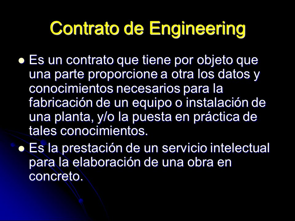Contrato de Engineering