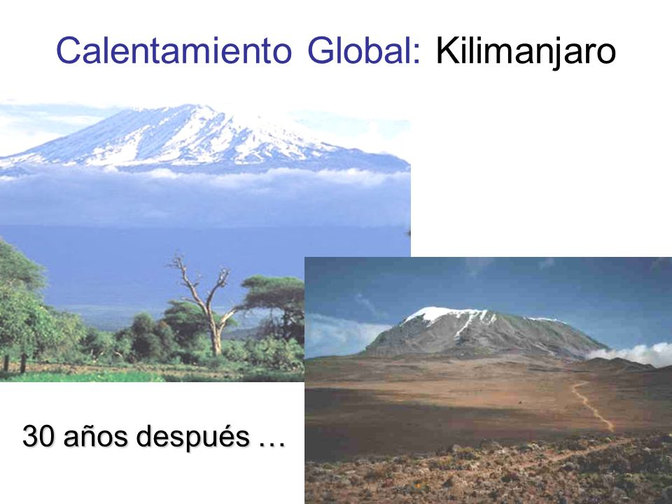 Calentamiento Global: Kilimanjaro