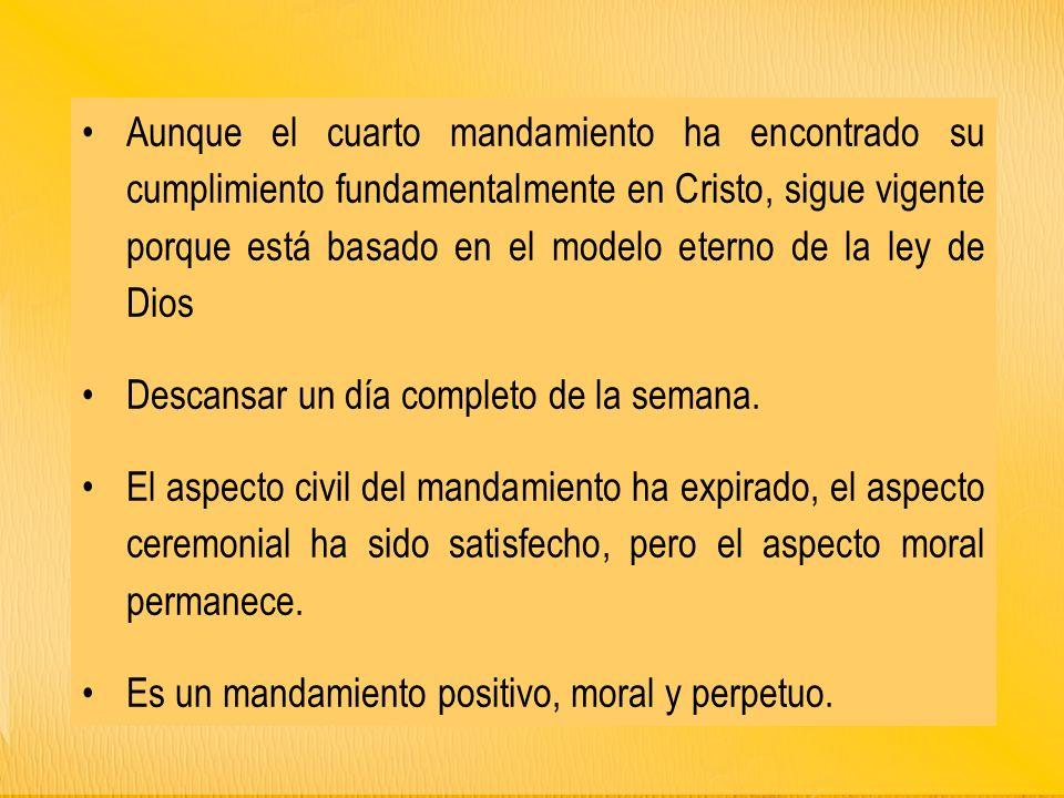 EL CUARTO MANDAMIENTO. - ppt descargar