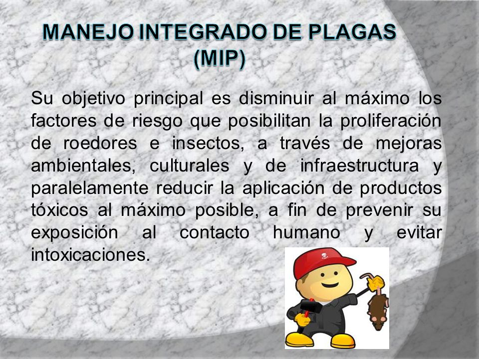 Manejo integrado de plagas (mip)