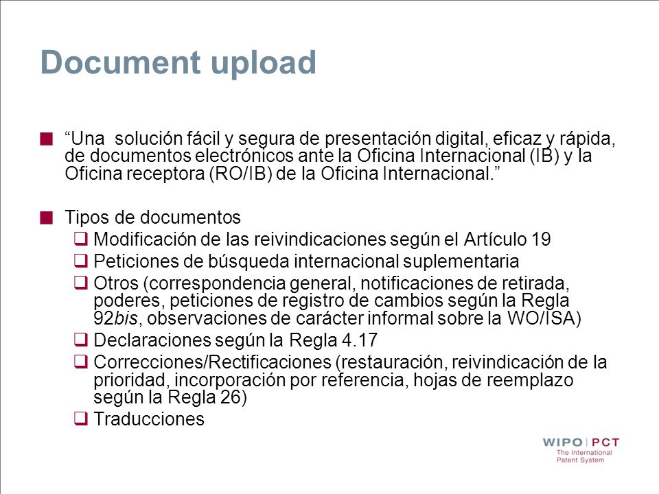 Document upload