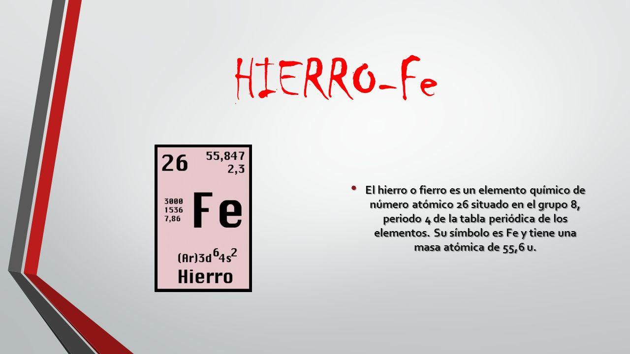 Tabla periodica la tabla peridica de los elementos es una hierro fe urtaz Image collections