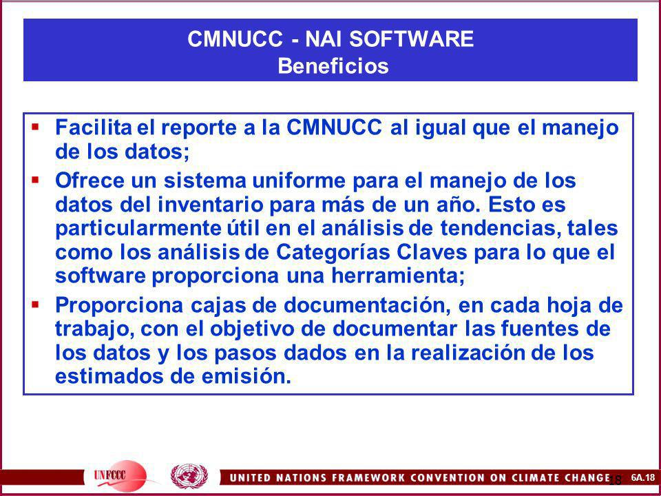 CMNUCC - NAI SOFTWARE Beneficios