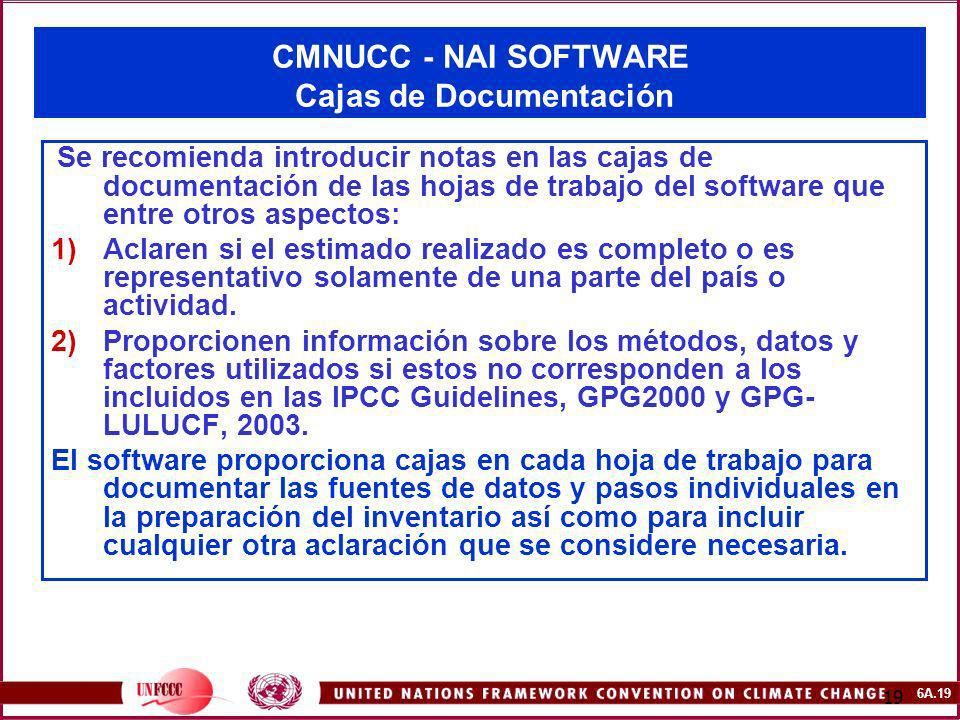 CMNUCC - NAI SOFTWARE Cajas de Documentación
