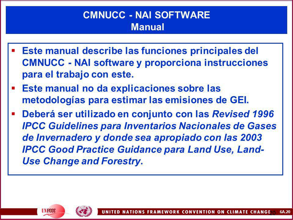 CMNUCC - NAI SOFTWARE Manual