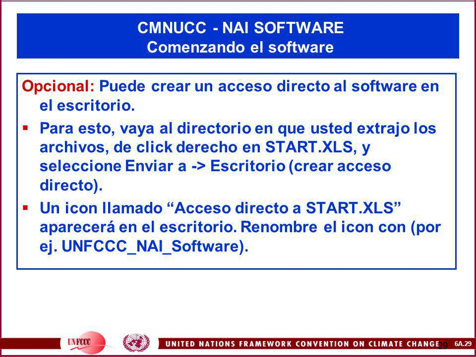 CMNUCC - NAI SOFTWARE Comenzando el software
