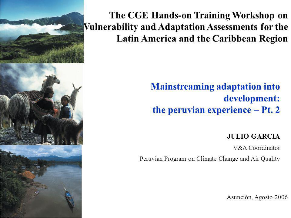 The CGE Hands-on Training Workshop on Vulnerability and Adaptation Assessments for the Latin America and the Caribbean Region