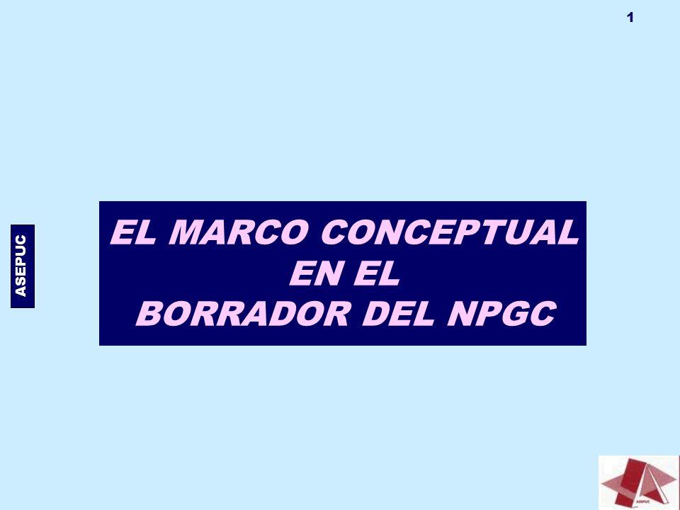 EL MARCO CONCEPTUAL EN EL BORRADOR DEL NPGC - ppt descargar