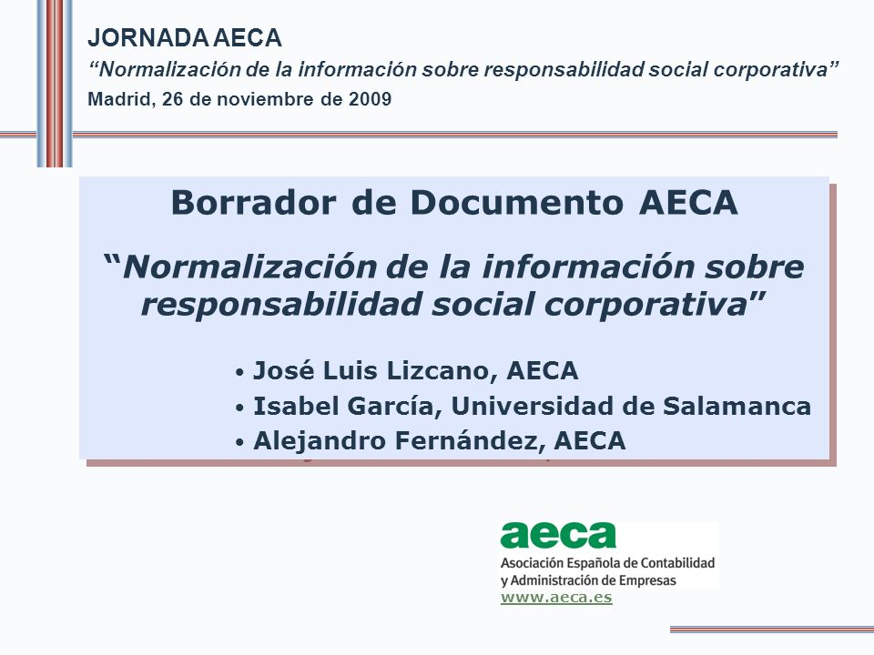 Borrador de Documento AECA