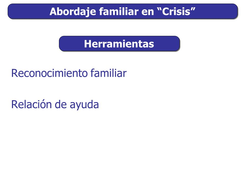 Abordaje familiar en Crisis