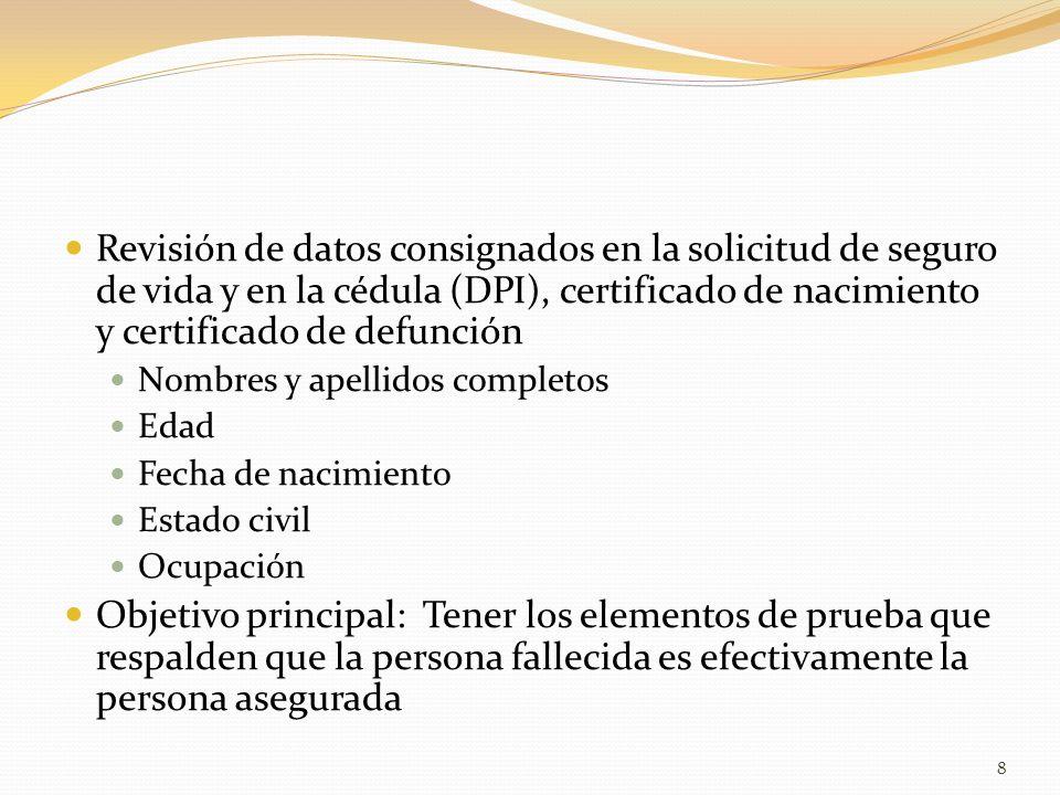 ANALISIS y LIQUIDACION DE SINIESTROS DE VIDA - ppt video online ...
