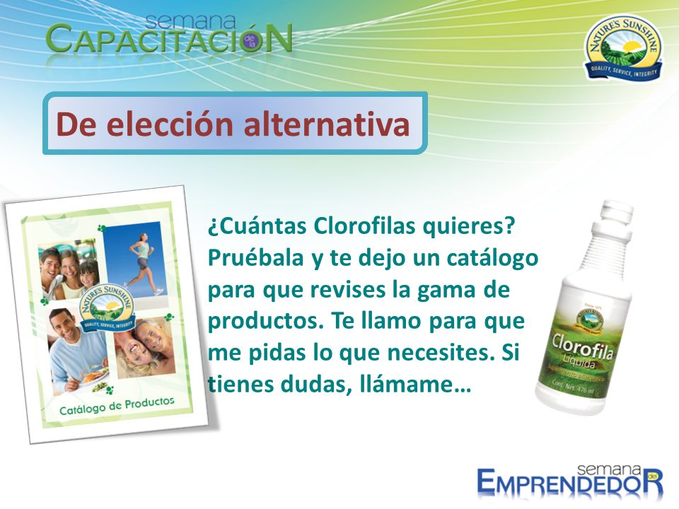 De elección alternativa