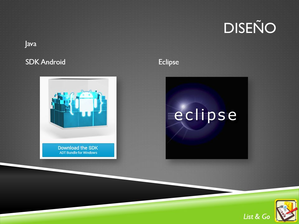 DISEÑO Java SDK Android Eclipse List & Go